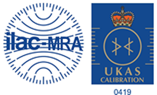 ILAC MRA UKAS logo accreditation number 0419