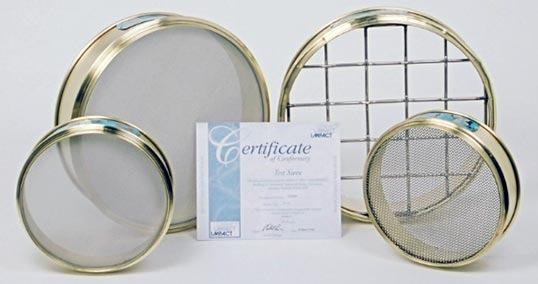 brass sieves with certificate