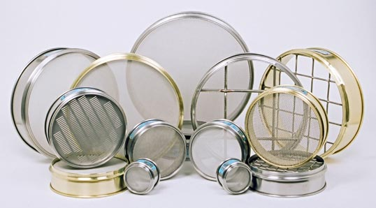 Brass and Stainless Steel Sieves